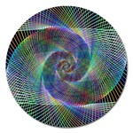 Psychedelic Spiral Magnet 5  (Round)