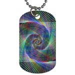 Psychedelic Spiral Dog Tag (One Sided)