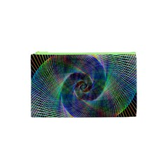 Psychedelic Spiral Cosmetic Bag (xs) by StuffOrSomething