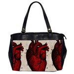 Human Heart Oversize Office Handbag (Two Sides)
