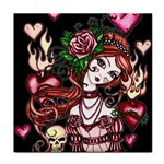 Skull Girl Tile Coaster