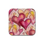 Lots of Love Rubber Square Coaster (4 pack)