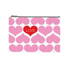 One Love Cosmetic Bag (large) by Kathrinlegg
