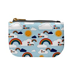 Be Happy Repeat Coin Change Purse by Kathrinlegg