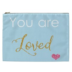 You Are Loved Cosmetic Bag (xxl) by Kathrinlegg
