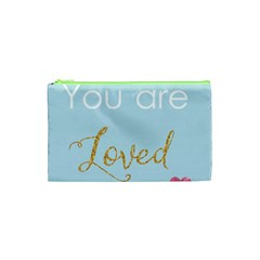 You Are Loved Cosmetic Bag (xs) by Kathrinlegg