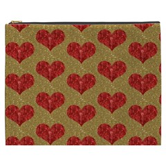 Sparkle Heart  Cosmetic Bag (xxxl) by Kathrinlegg