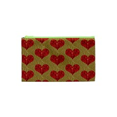 Sparkle Heart  Cosmetic Bag (xs) by Kathrinlegg