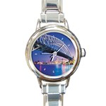 Sydney Harbour Bridge Round Italian Charm Watch