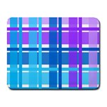 Blue & Purple Gingham Plaid Small Mouse Pad (Rectangle)
