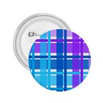 Blue & Purple Gingham Plaid 2.25  Button