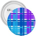 Blue & Purple Gingham Plaid 3  Button