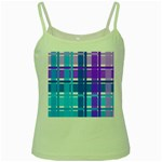 Blue & Purple Gingham Plaid Green Spaghetti Tank