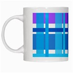 Blue & Purple Gingham Plaid White Coffee Mug
