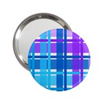Blue & Purple Gingham Plaid Handbag Mirror (2.25 )