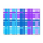 Blue & Purple Gingham Plaid A4 Sticker