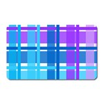 Blue & Purple Gingham Plaid Magnet (Rectangular)