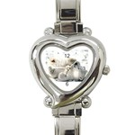 Baby Polar Bear Heart Italian Charm Watch