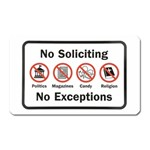No soliciting sign magnet