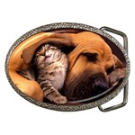 Best Friends Cat and Dog Belt Buckle