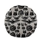 Haeckel Chiroptera Standard 15  Premium Flano Round Cushion