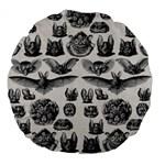 Haeckel Chiroptera Large 18  Premium Flano Round Cushion