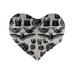 Haeckel Chiroptera Standard 16  Premium Flano Heart Shape Cushion