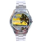 Amelia s Lighthouse -AveHurley ArtRevu.com- Stainless Steel Analogue Watch