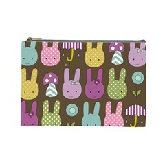 Bunny  Cosmetic Bag (large) by Kathrinlegg