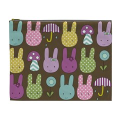 Bunny  Cosmetic Bag (xl) by Kathrinlegg