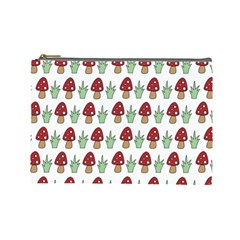 Mushrooms Cosmetic Bag (large) by Kathrinlegg