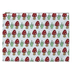 Mushrooms Cosmetic Bag (xxl) by Kathrinlegg