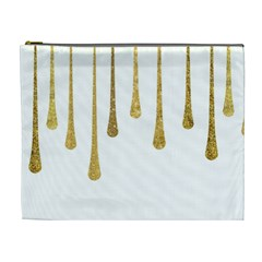 Gold Glitter Paint Cosmetic Bag (xl) by Kathrinlegg