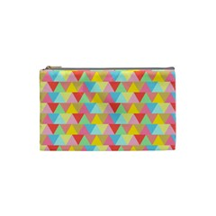 Triangle Pattern Cosmetic Bag (small) by Kathrinlegg