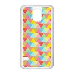Triangle Pattern Samsung Galaxy S5 Case (white) by Kathrinlegg