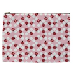 Spot The Ladybug Cosmetic Bag (xxl) by Kathrinlegg