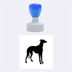 Greyhound standing rubber stamp