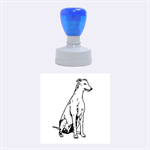 Greyhound sitting rubber stamp