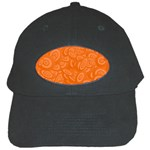 Orange Abstract 45s Black Baseball Cap