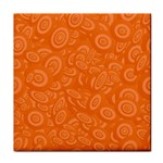 Orange Abstract 45s Ceramic Tile