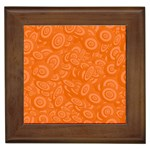 Orange Abstract 45s Framed Ceramic Tile
