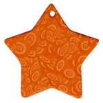 Orange Abstract 45s Star Ornament