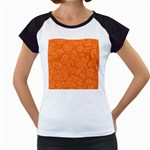 Orange Abstract 45s Women s Cap Sleeve T-Shirt (White)