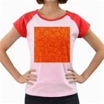 Orange Abstract 45s Women s Cap Sleeve T-Shirt (Colored)