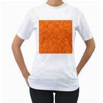 Orange Abstract 45s Women s Two-sided T-shirt (White)