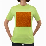 Orange Abstract 45s Women s T-shirt (Green)