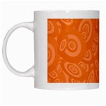 Orange Abstract 45s White Coffee Mug