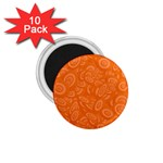 Orange Abstract 45s 1.75  Button Magnet (10 pack)