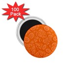 Orange Abstract 45s 1.75  Button Magnet (100 pack)