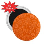 Orange Abstract 45s 2.25  Button Magnet (10 pack)